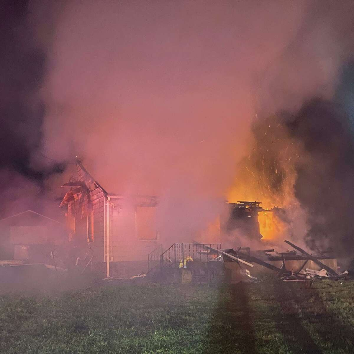 Crews extinguished a fire on Colony Road in Seymour, Conn., near the Ansonia line on Saturday, Sept. 18, 2021.