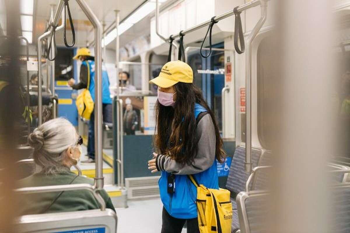 A Sound Transit fare ambassador.