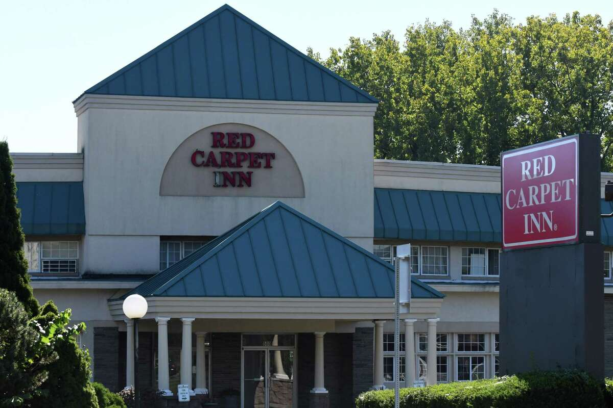 Exterior of the Red Carpet Inn on Northern Boulevard on Friday, Sept. 20, 2021, where Shawn Terry, 35, shot and killed on Saturday night in Albany N.Y.