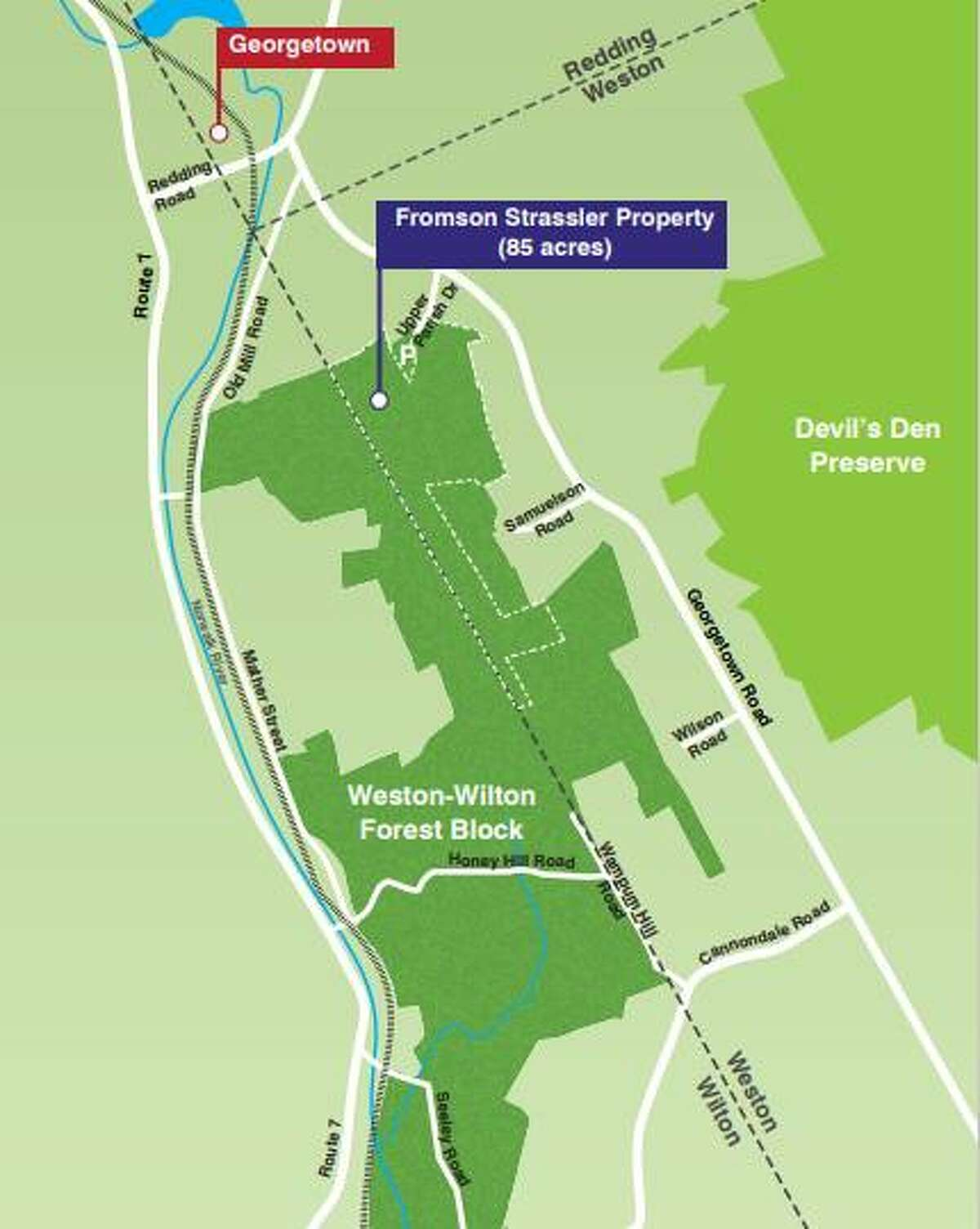 Weston residents voted overwhelmingly to approve the sale of the 85-acre Fromson Strassler property to Aspetuck Land Trust for $1,143,750. The sale will allow the trust to preserve the parcel of land forever as open space.