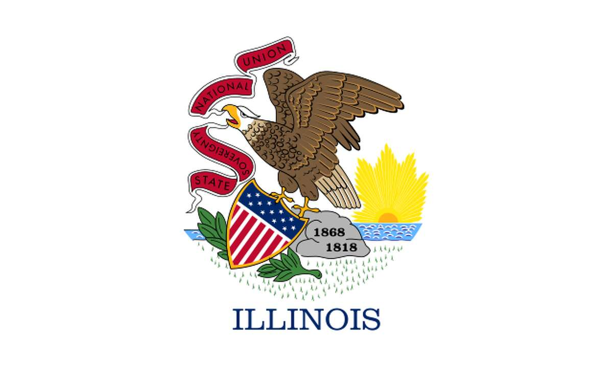FILE - The state flag of Illinois