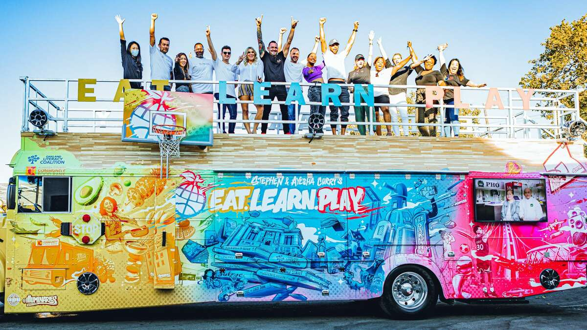 San Antonio-based Cruising Kitchen's latest build is helping Steph and Ayesha Curry provide Bay Area kids with resources including fresh food, opportunities for play and books.