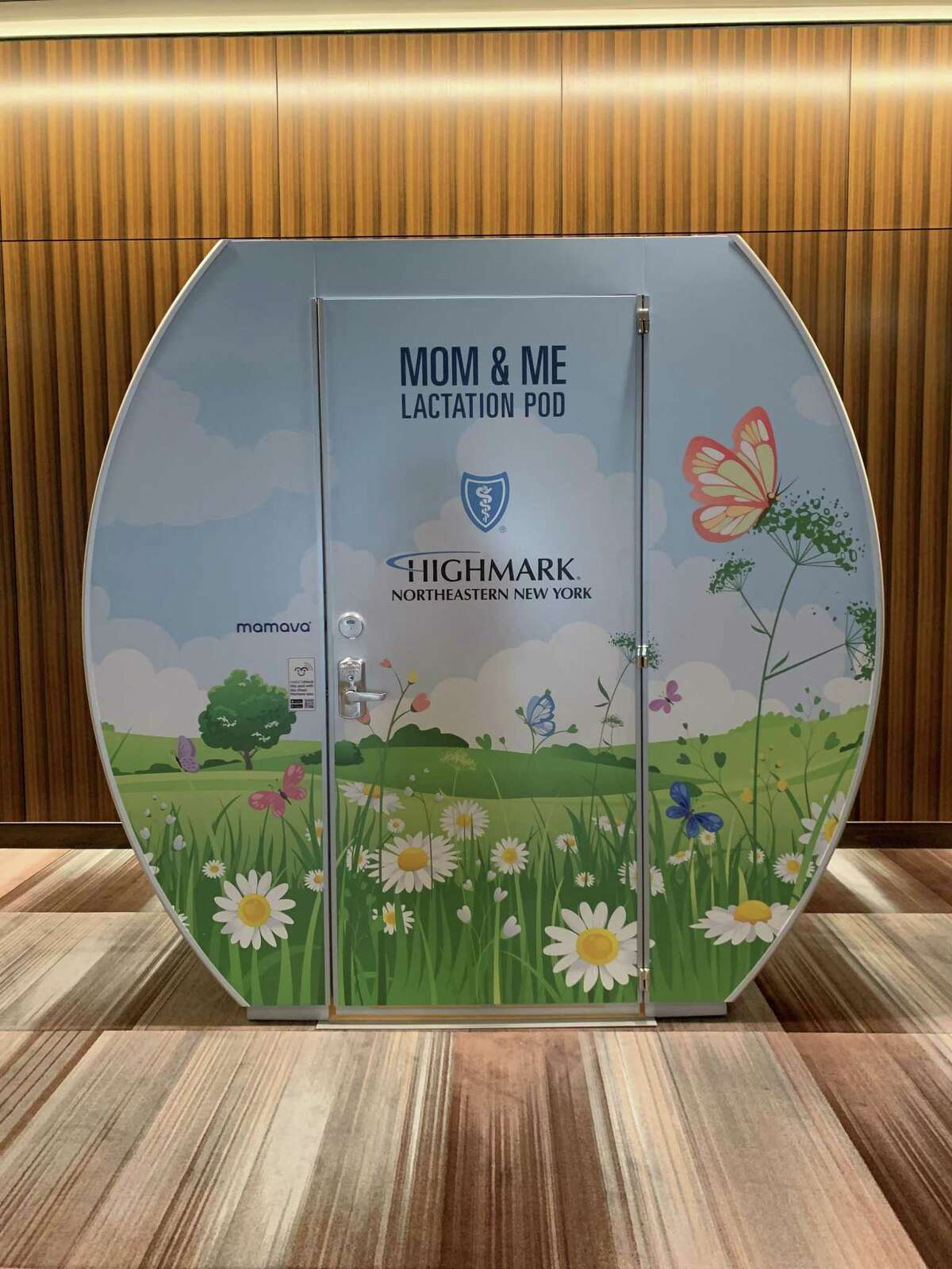 A Mamava lactation pod installed at the Albany Capital Center in September 2021.