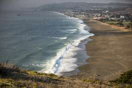 Downtown Pacifica is viewable from the Mori Point Loop Trail in Pacifica, Calif. on Sept. 15 ,2021.