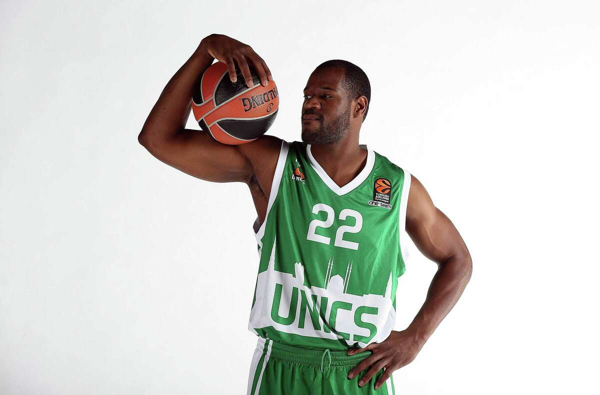 Latavious Williams was playing for Russian team Unics Kazan when this 2016 EuroLeague Media Day picture was taken.