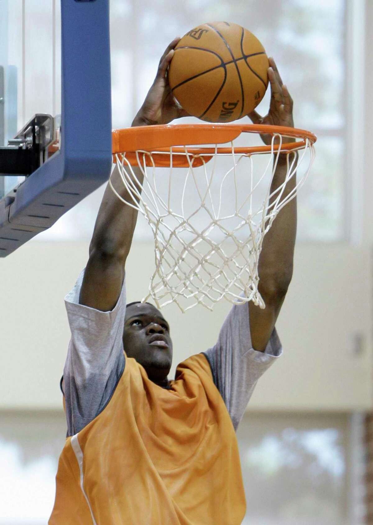 Latavious Williams dunks during a pre-NBA draft basketball workout for the Charlotte Bobcats in June 2010. He would be drafted by Miami, then traded to Oklahoma City.