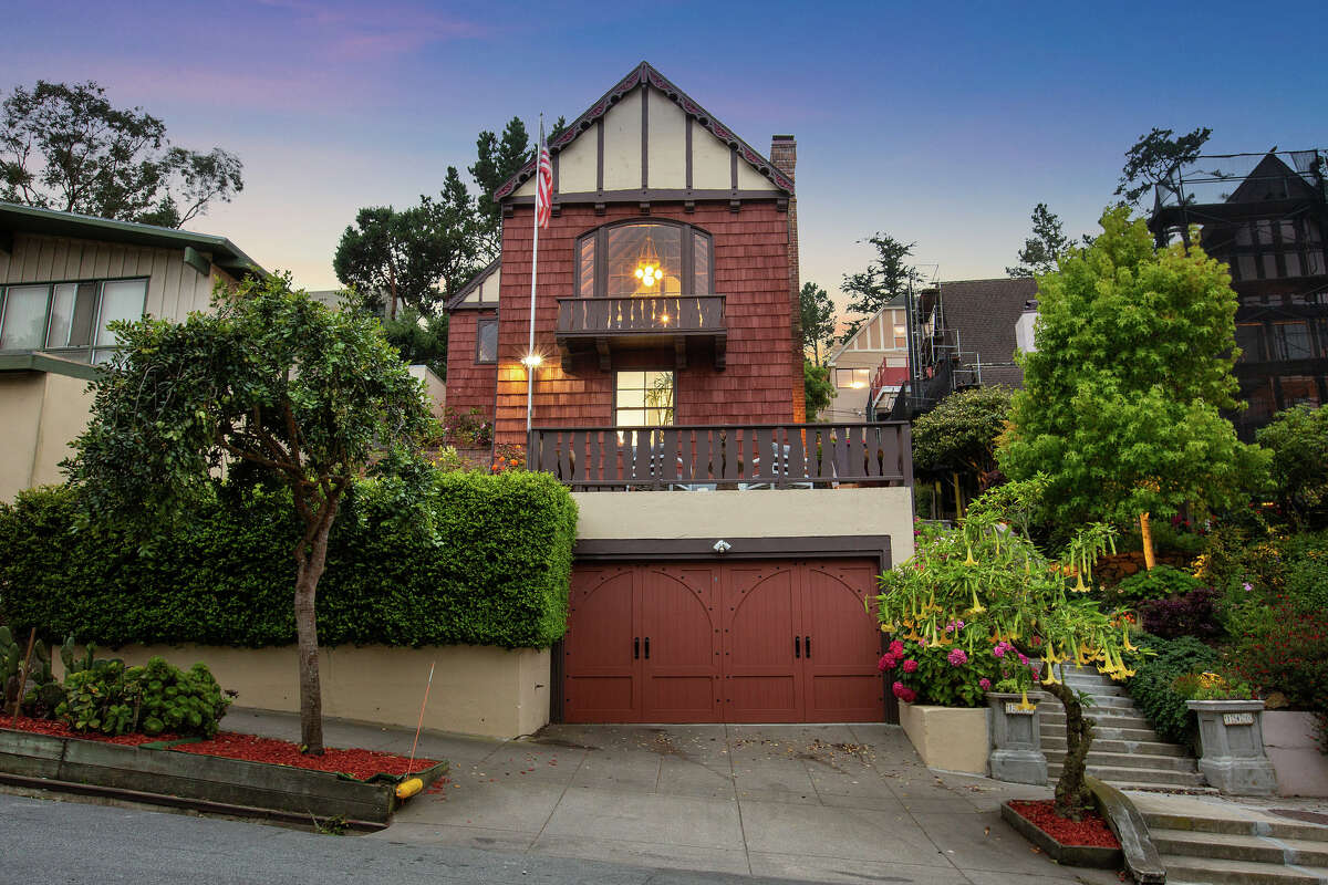 The home is a three-level, 4,272 square foot Tudor Revival.