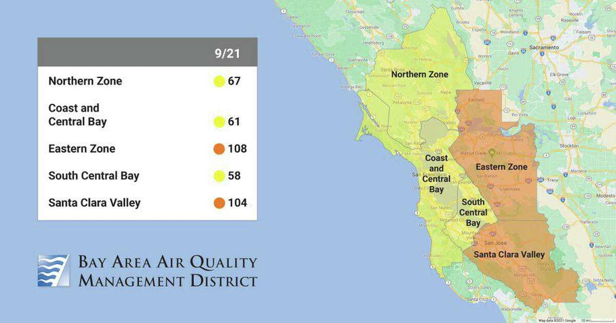 Parts of the East Bay, including sections of Solano, Contra Costa, Alameda and Santa Clara counties, could see higher-than-normal levels of ozone in the atmosphere, which could cause problems for people with respiratory issues such as asthma and emphysema.