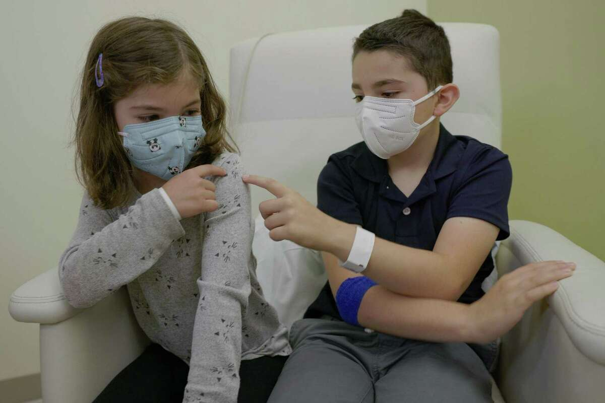 Nico Chavez, 9, and his 6-year-old sister Sofia, participated in the Pfizer vaccine trial for elementary school-aged kids at Stanford.
