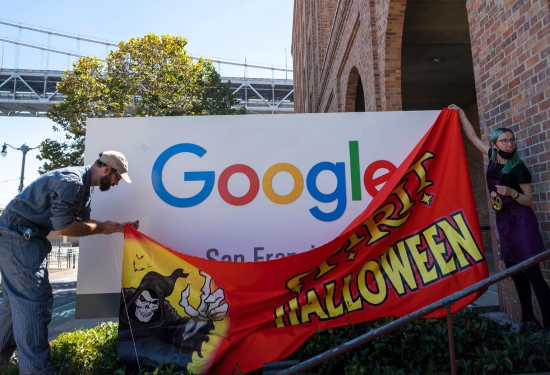 San Francisco prank artist turns 'ghost town' Google office into a Spirit Halloween store - SFGate