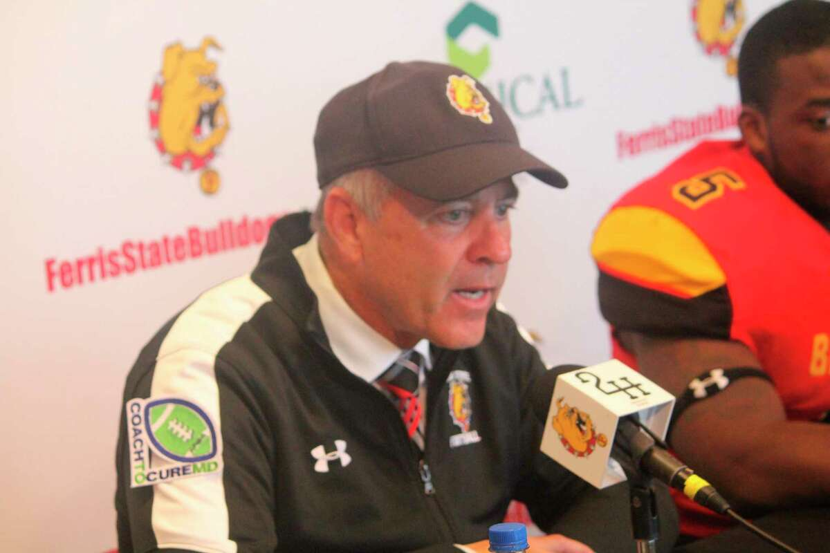 Ferris football coach Tony Annese was extremely unhappy with his team on Saturday. (Pioneer file photo)