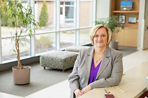 Sonja LaBarbera, president and CEO of Gaylord Specialty Healthcare in Wallingford, is the winner of the Hearst Connecticut Media Outstanding Leadership Award for 2021 among large employers.