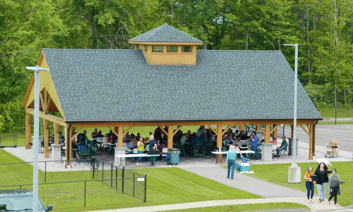 Life is returning to normal this summer at HAI Group in Cheshire, where the specialty insurer has most employees back at the office. HAI is a winner in the Hearst Connecticut Media Top Workplaces contest for 2021. Pictured is the company's pavilion for meals and other events.
