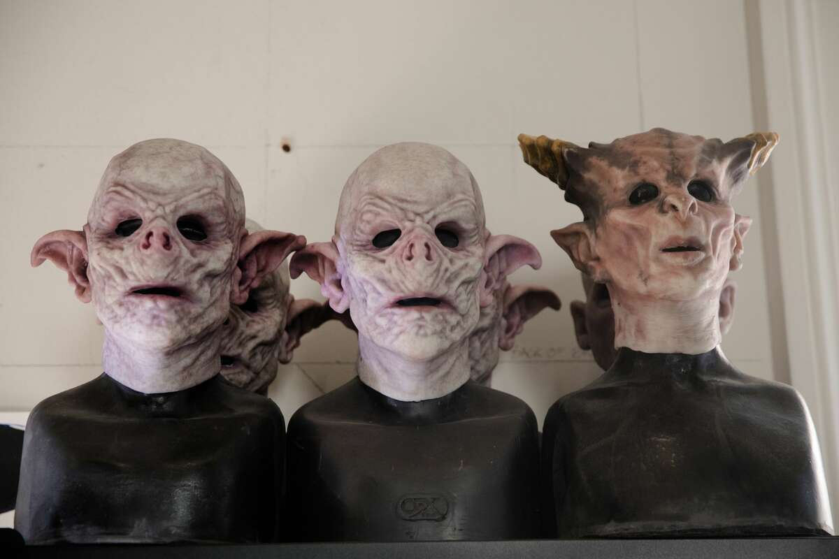 """Some of the mask artists will wear to """"The Immortal Judgment"""" at the San Francisco Mint on September 13, 2021."""