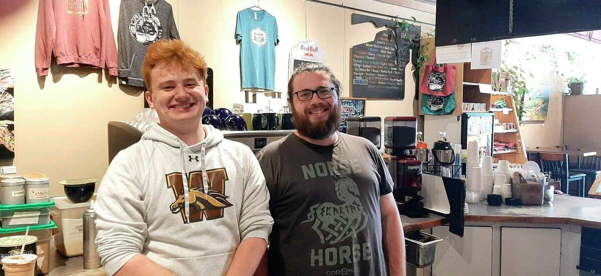 Pictured are Sam Longlet, left, and Josh Trochet, who worked at Milano until he left to attend Berklee College of Music in Boston. Both Longlet and Trochet enjoyed creating unique drinks. (Photo by Niky House/For the Daily News)