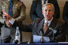 Gov. Greg Abbott speaks during a press conference in Dallas in March.
