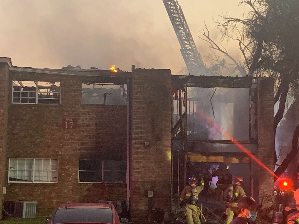 Eight units of a North Side apartment complex were destroyed in a Fire Tuesday.