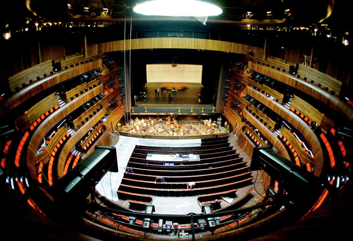 The main auditorium of the Oslo Opera House
