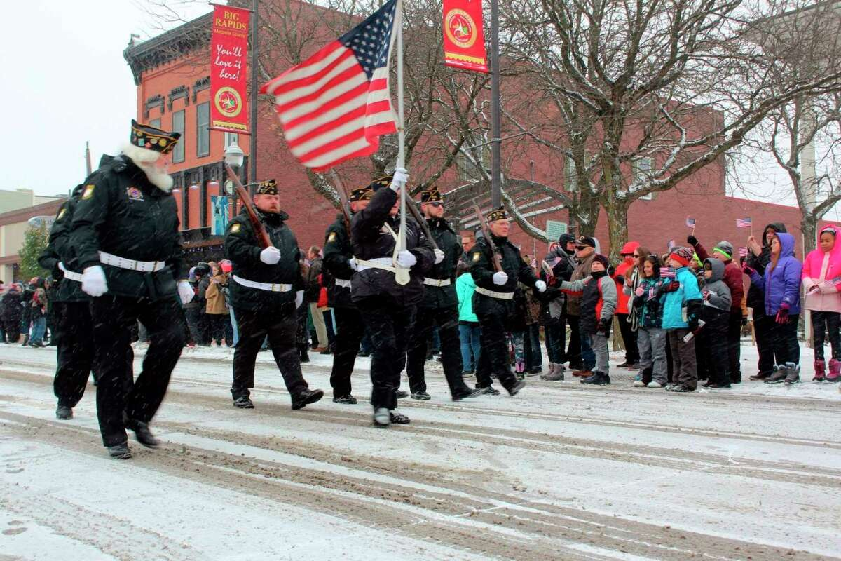 The 2021 Veterans Day parade is scheduled to take place at 11 a.m. on Thursday, Nov. 11 in downtown Big Rapids. (Pioneer file photo)