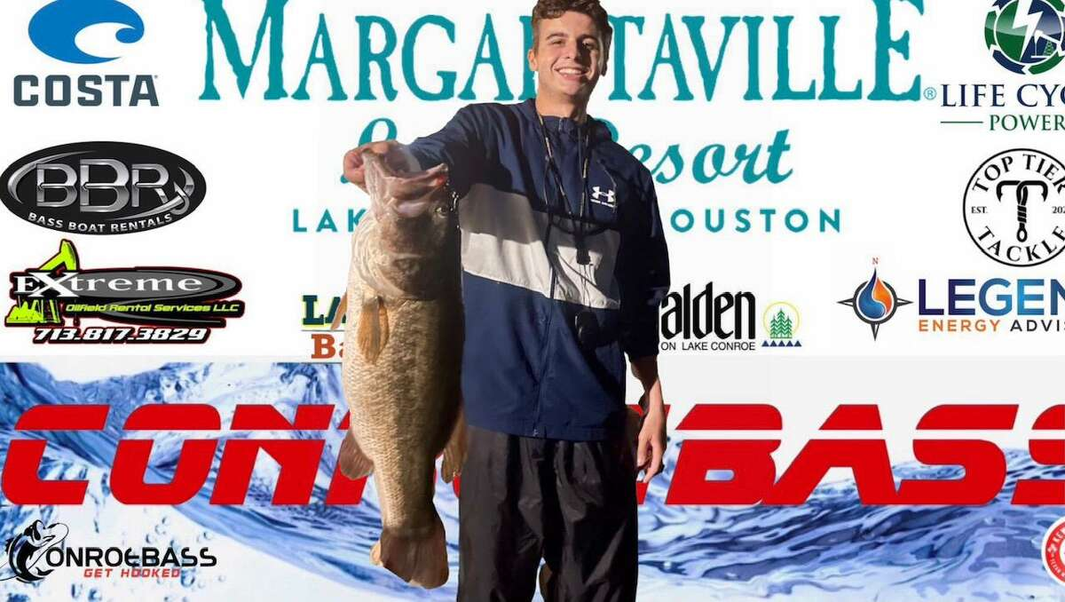 Grant Stevens (pic.) and Rob Stevens came in first place in the CONROEBASS Tuesday Tournament with a weight of 7.77 pounds.