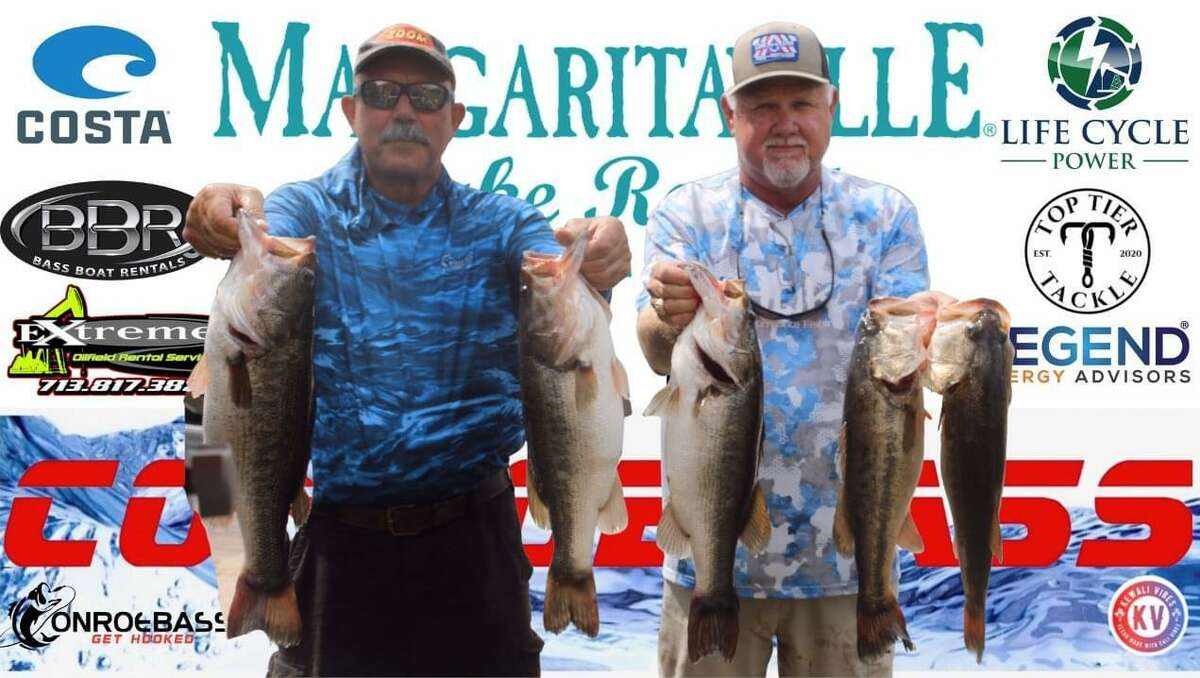 Randy Gunter and Mickey Mueller came in first place in the CONROEBASS Tuesday Championship Tournament with a weight of 26.35 pounds.