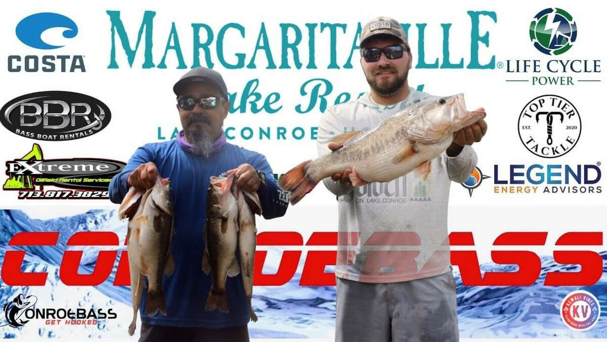Josh Bensema and Juan Monroy came in second place in the CONROEBASS Tuesday Championship Tournament with a weight of 18.59 pounds.