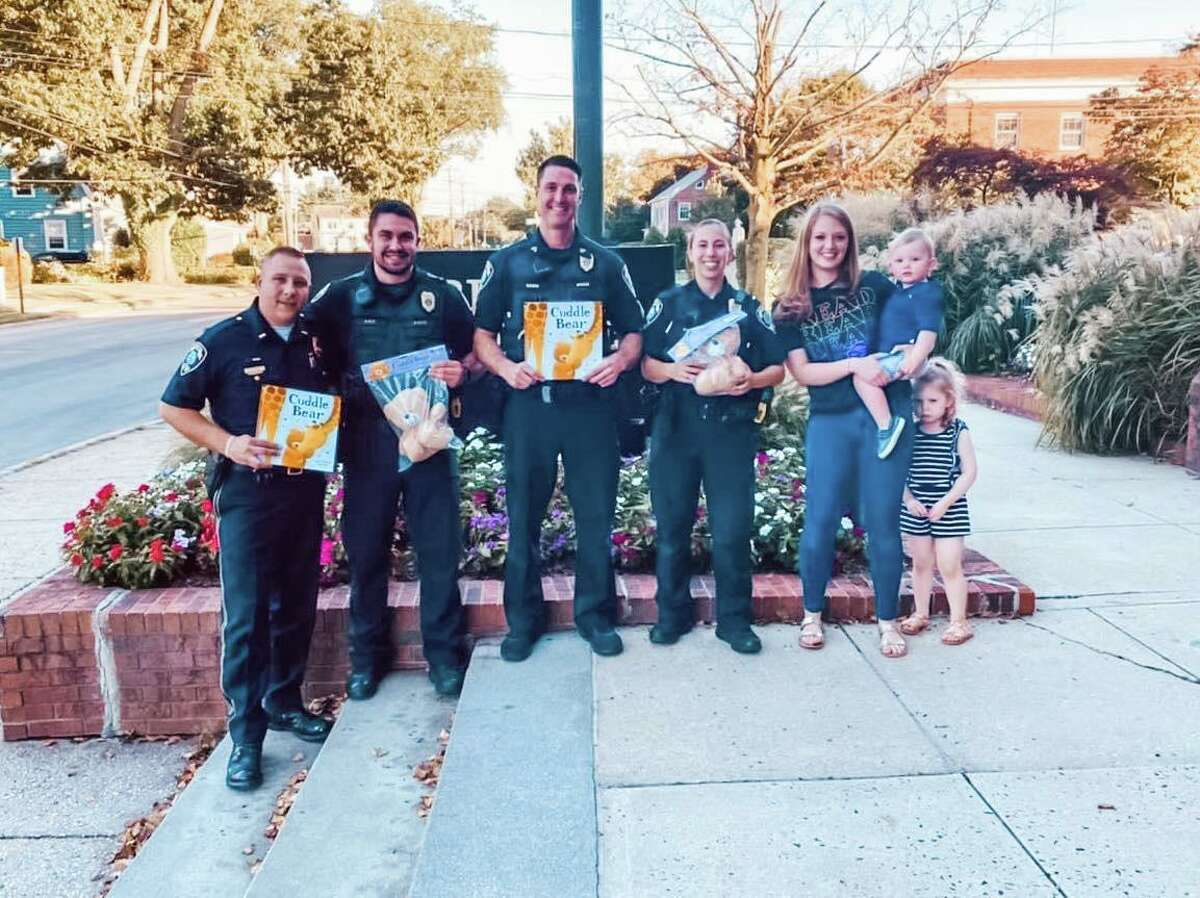 In August, Brunetto and her children dropped off the Cuddle Bear books and plush toys to the Fairfield Police Department.