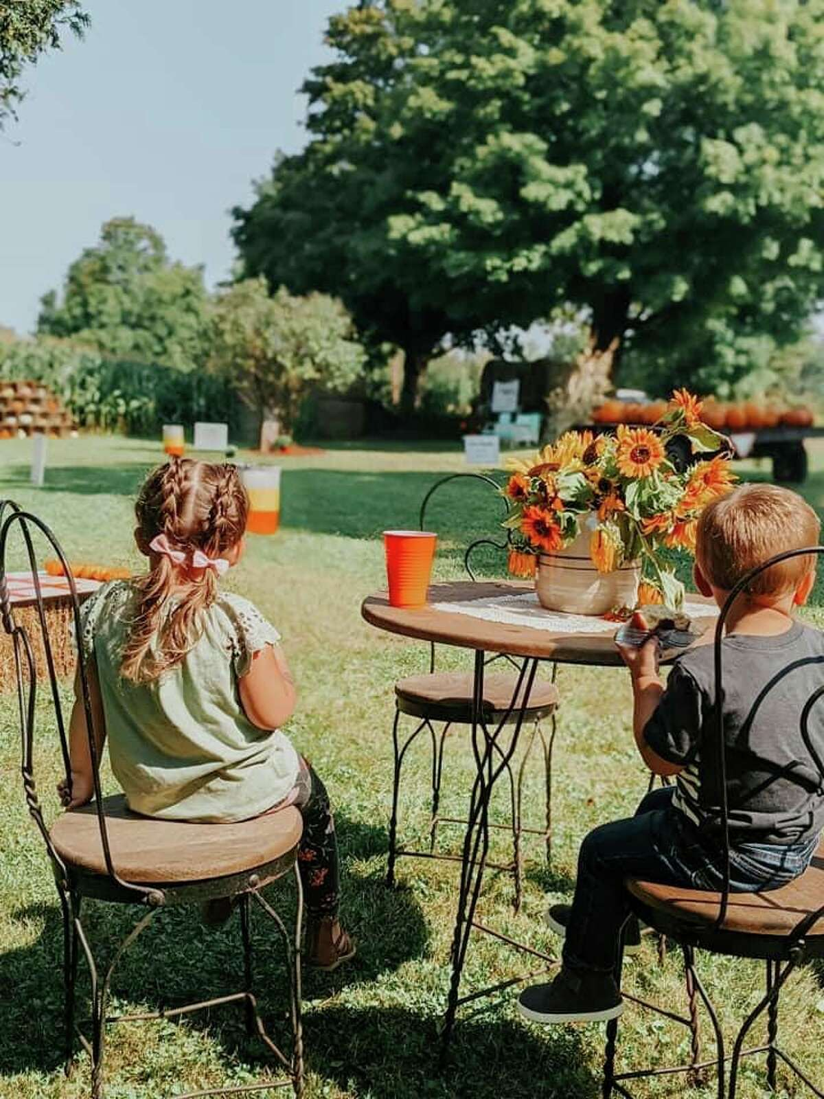 Apple cider, hot and iced coffee and donuts were served up all month long at the Oxford Farm. (Photo courtesy/Kendra Kissane)