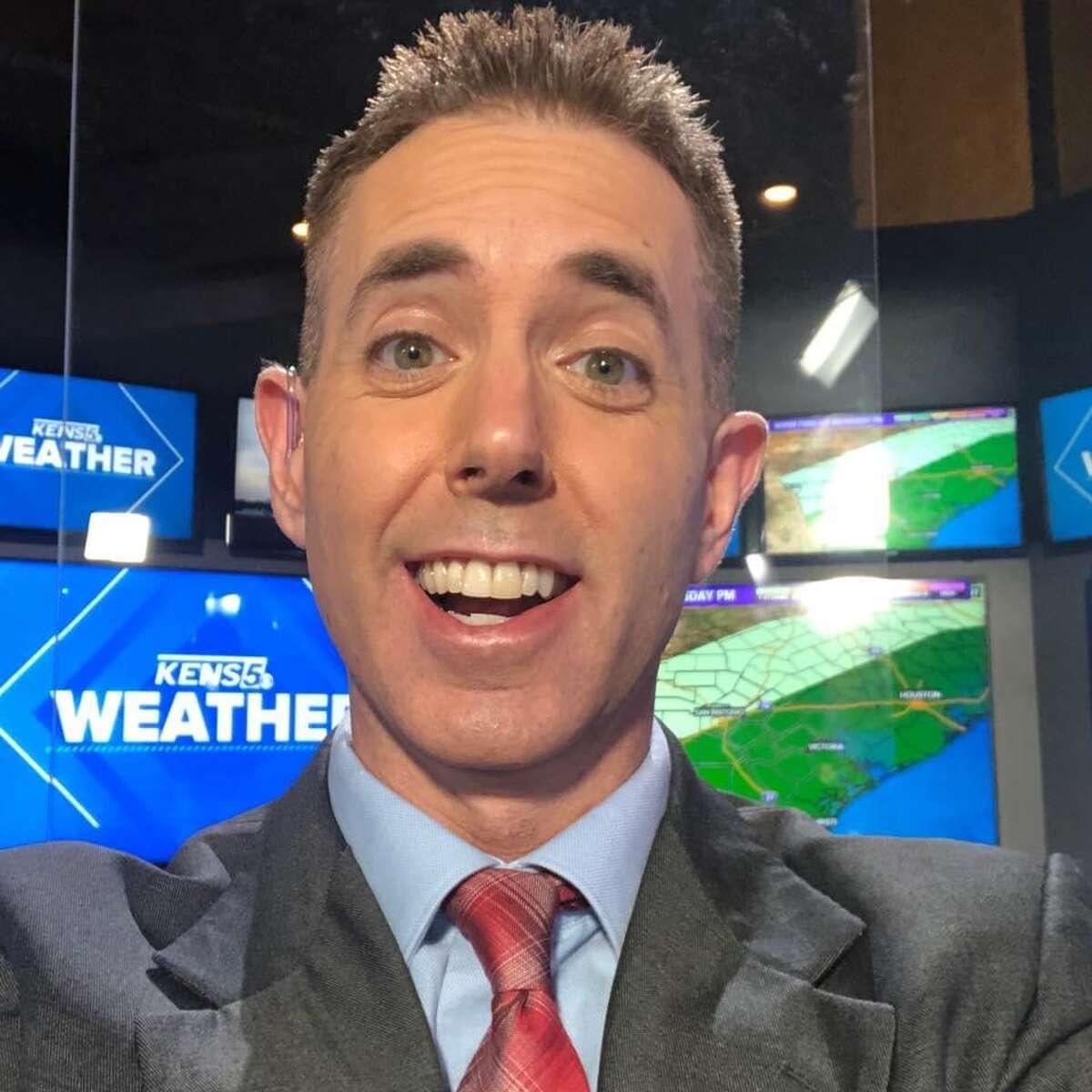 KENS 5 meteorologist Jeremy Baker