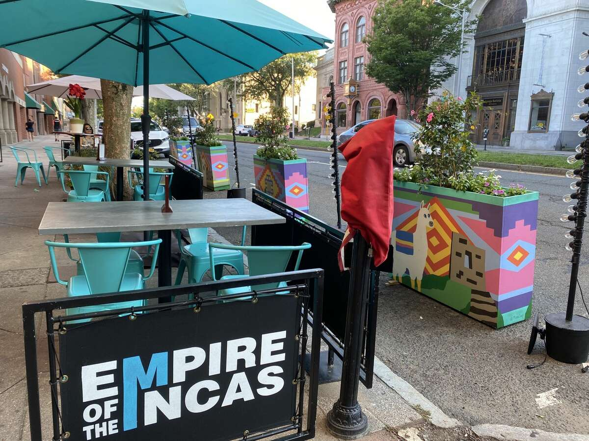 The exterior of Empire of the Incas on Main Street in Danbury on Sept. 18, 2021.