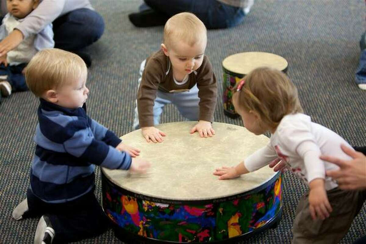 """Toddlers interact in a playful and nurturing environment experiencing music of varying styles in the Ellen Singh with Kindermusik program, recently named a Top Program by Kindermusik International. Singh, who has been licensed with Kindermusik since 2004, is offering her Kindermusik with Ellen Singh program through Southern Illinois University Edwardsville and through her virtual """"Move & Groove"""" classes at Lewis and Clark Community College (LCCC) Music Preparatory School, in Godfrey, with registration and enrollment through the LCCC Music Department at 618-468-4731."""