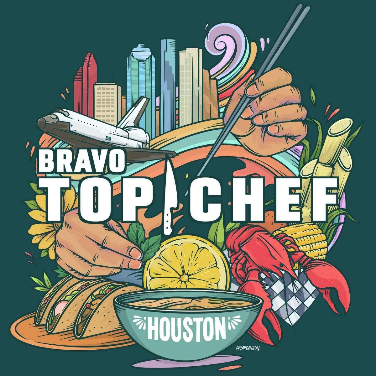 "The logo for Season 19 of Bravo's ""Top Chef"" was designed by Houston artist David Maldonado."