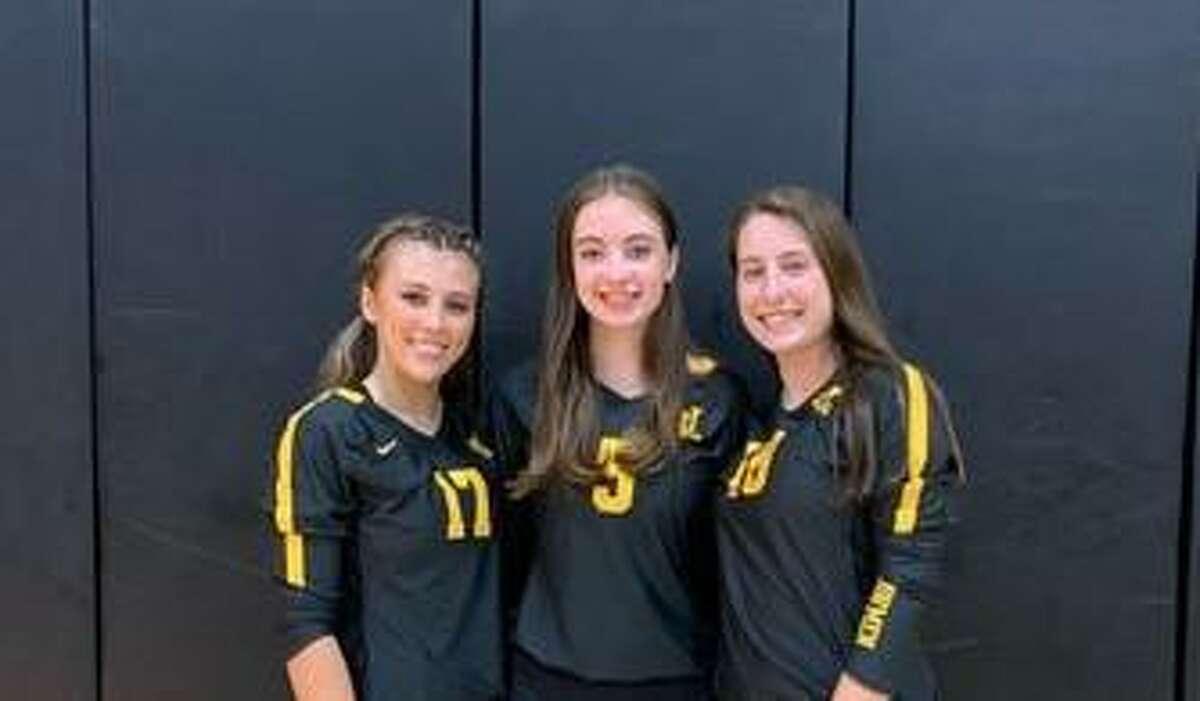 Sydney Simpson, Mackensie Ott and Grace Kantor are Law captains.