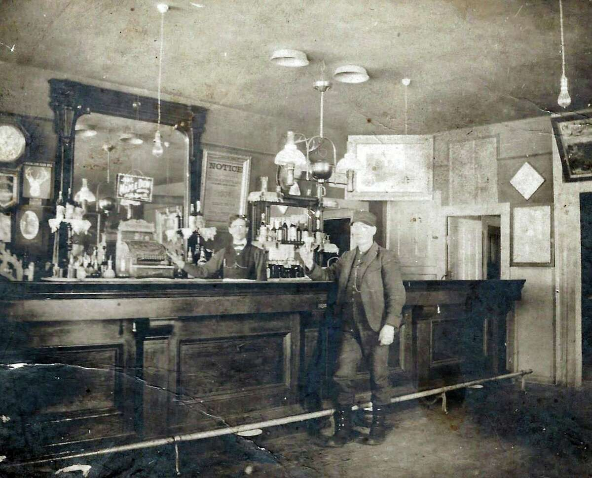 Pictured is Sportsman's Bar George Duffing Bartender in Baldwin in 1905. (Submitted photo)