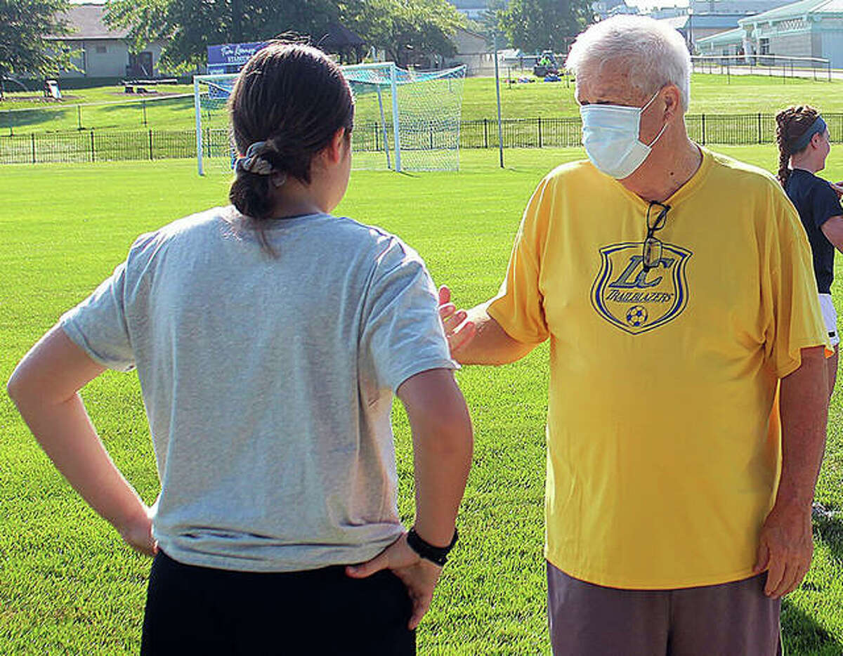 Lewis and Clark Community College women's soccer coach Tim Rooney spent the weekend in the hospital after suffering a kidney ailment caused by ibuprofen last week. Rooney is expected return to coaching the Trailblazers Thursday.