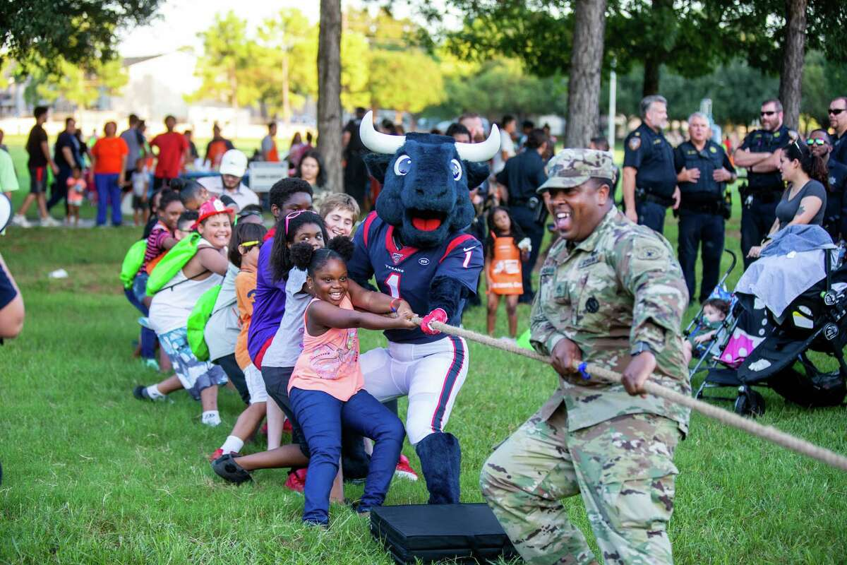 Community members enjoy a previous National Night Out event hosted by the North Houston District.