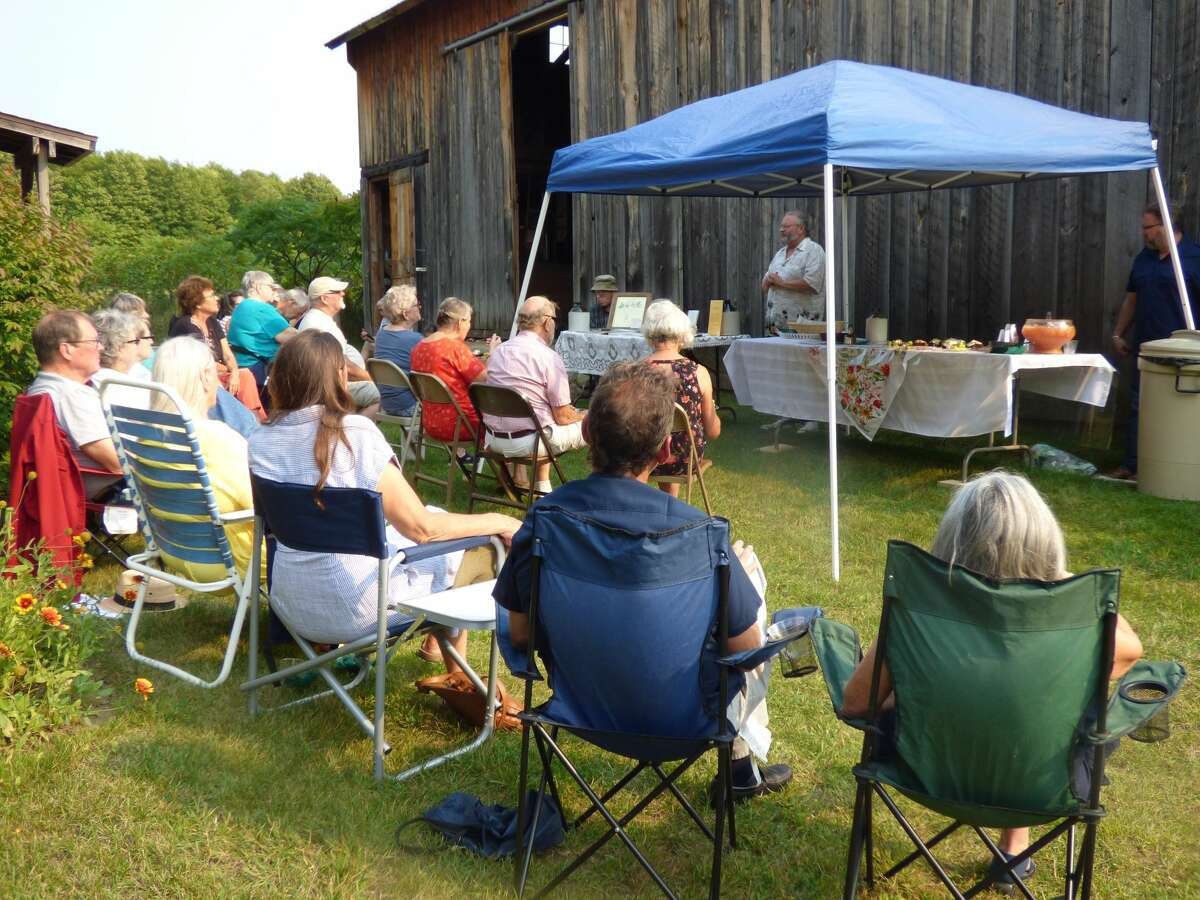 Marilla residents gather at a sesquicentennial celebration on Sept. 11.