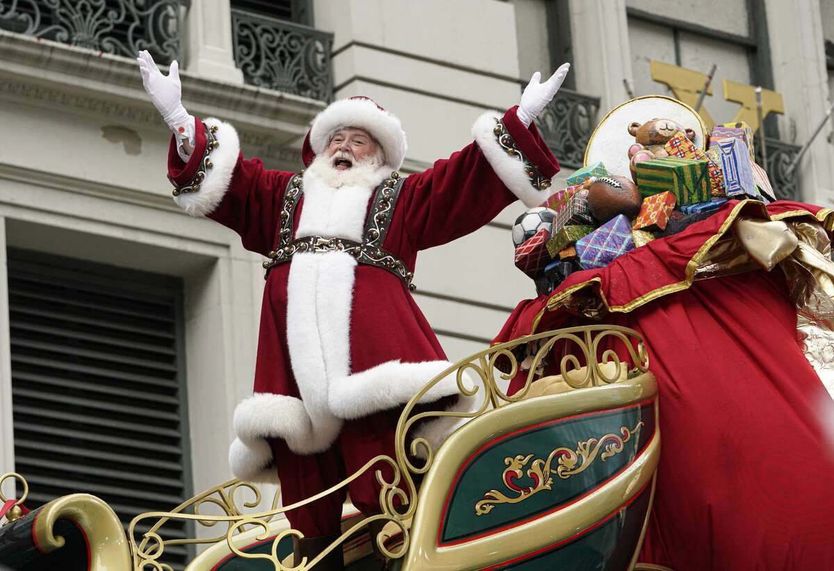 Santa Claus arrives on a float during last year's Macy's Thanksgiving Day Parade.
