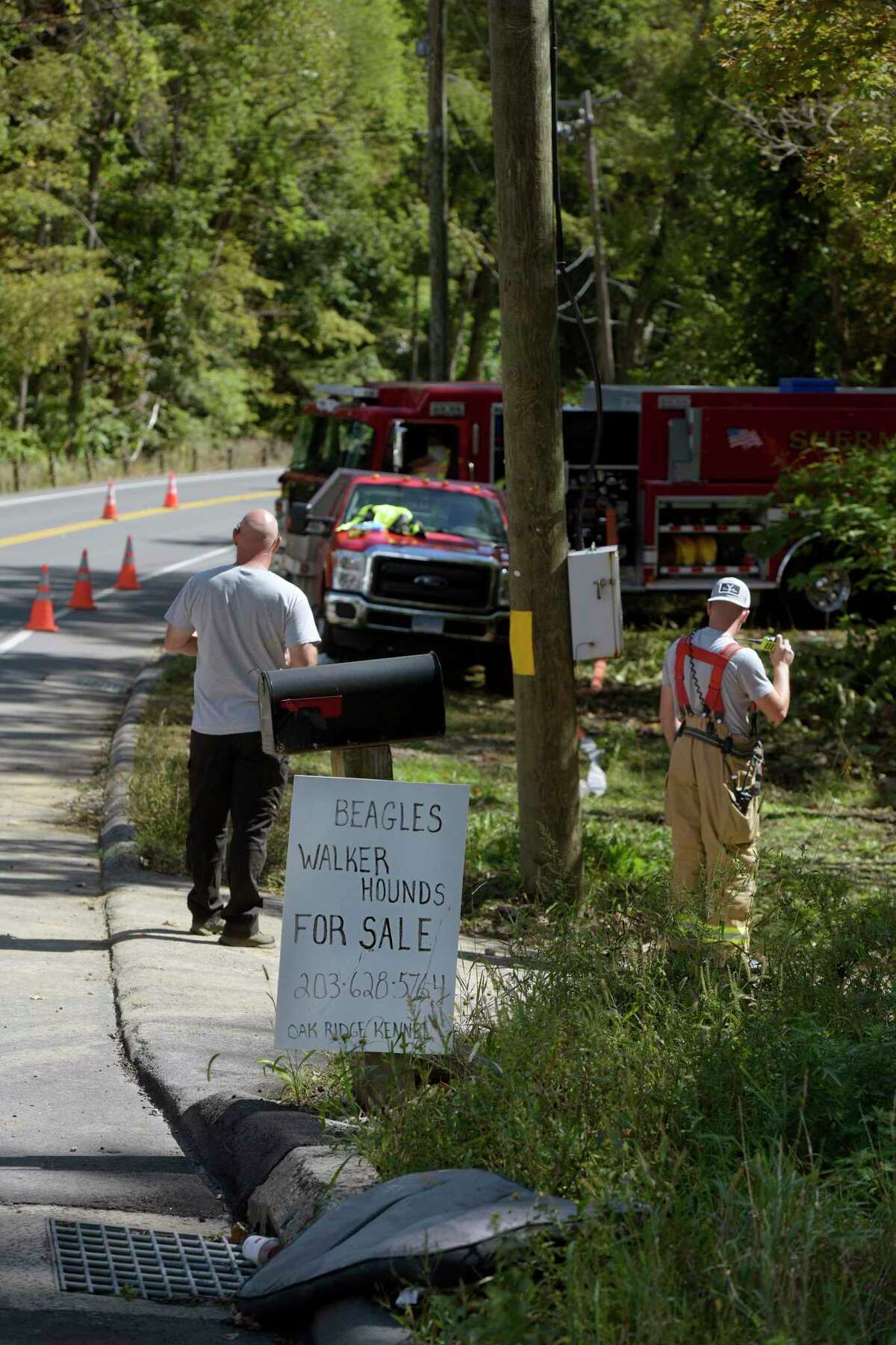 One person is unaccounted for as a result of a fire at a Route 55 North home on Sunday, according to officials. The fire, which was reported around 6 p.m. Sunday, and is still under investigation. Monday, September 20, 2021, Shermanb, Conn.