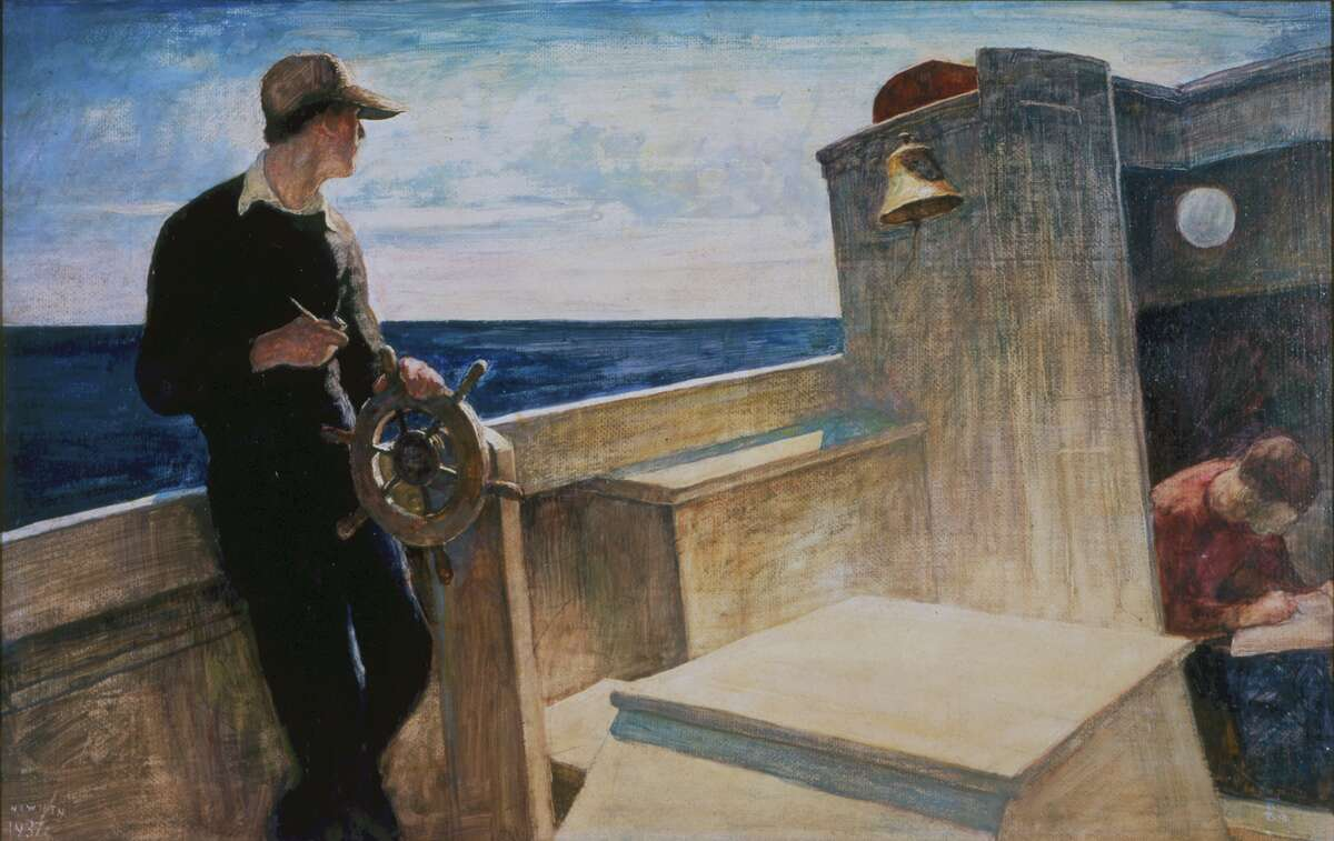 """N.C. Wyeth, """"Eight Bells,"""" 1937 (Bank of America collection)"""