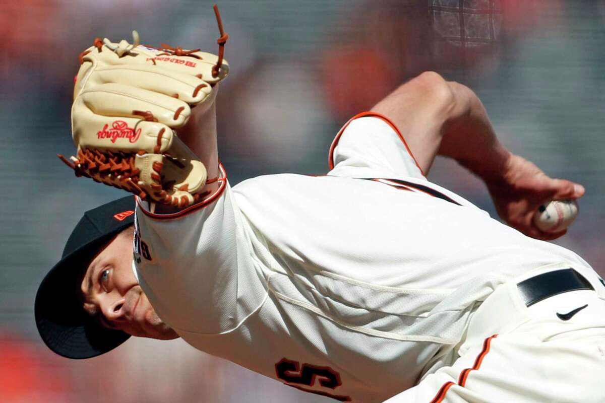 San Francisco Giants' Tyler Rogers pitches against Colorado Rockies in 7th inning during MLB game at Oracle Park in San Francisco, Calif., on Sunday, April 11, 2021.
