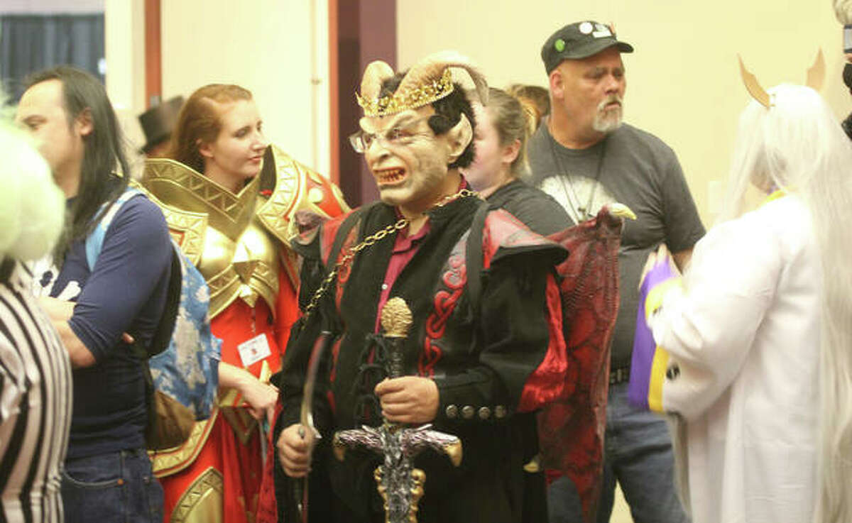 Masked participants crowd the halls at the 2019 Archon, the region's premier Sci-Fi/Fantasy convention, at the Gateway Convention Center in Collinsville. Last year's convention was canceled because of COVID. While this year's convention is set to go, there will be a number of major changes, including a mandatory medical mask policy for all public areas.