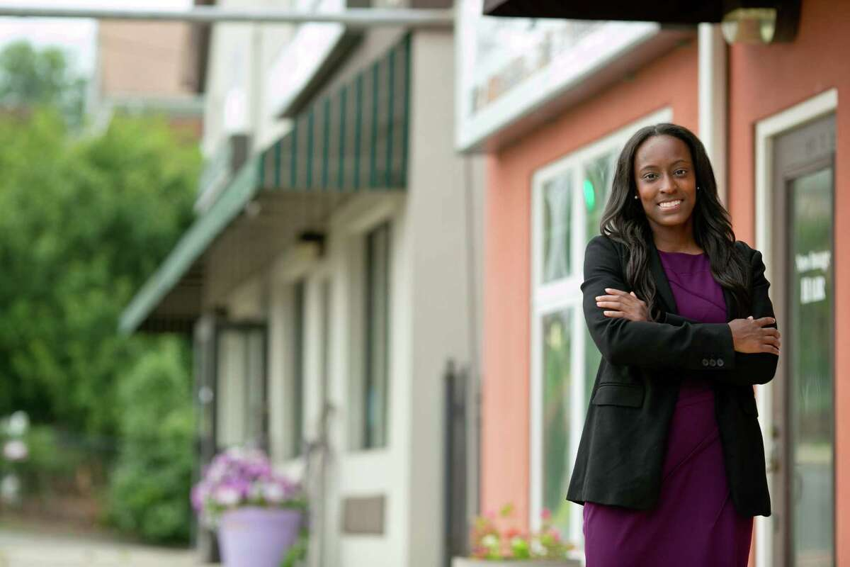 Cromwell attorney Aigné S. Goldsby, a Democrat, hopes to end the stronghold of Republican leadership in town with a win in the upcoming municipal elections. She would also be the first Black woman to hold the position.