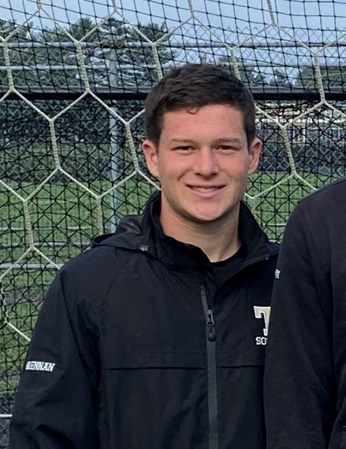 Sean Brennan, Alexander Conaway, Phillip Pires are Trumbull boys' soccer team captains.