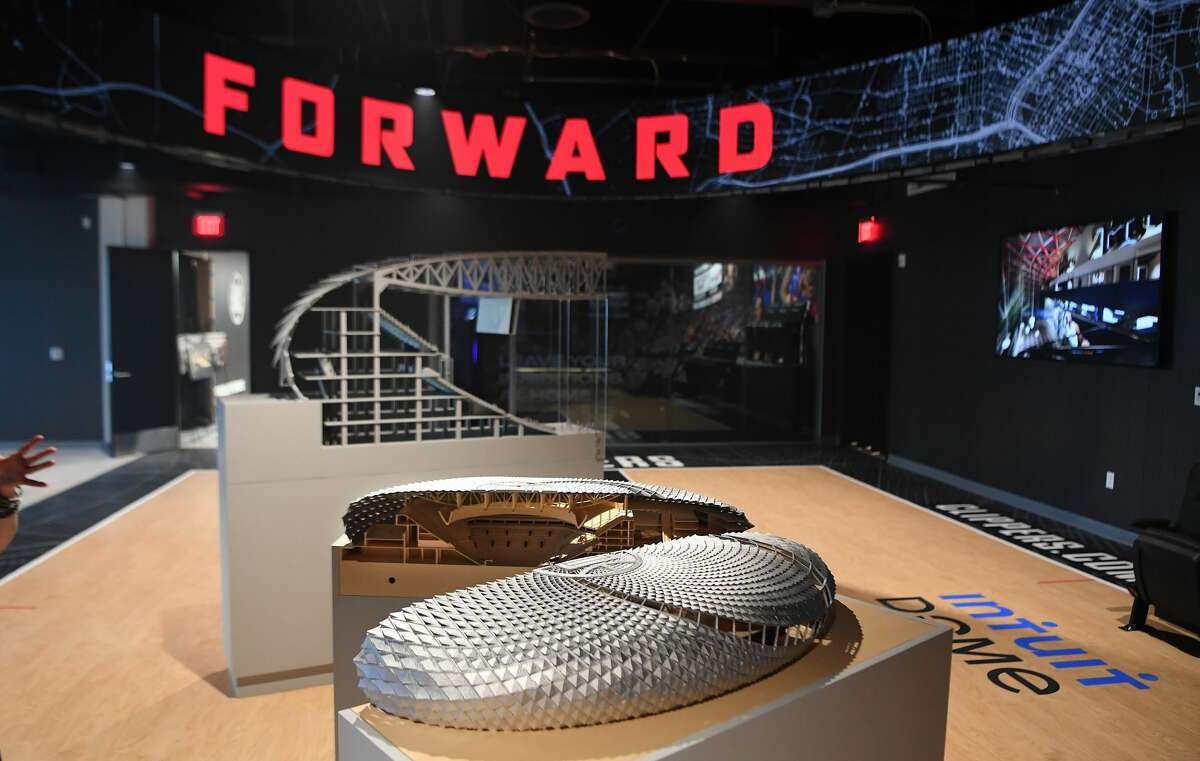 Los Angeles, CA. September 16, 2021: Models were on display of the Intuit Dome, the future home of the Los Angeles Clippers.