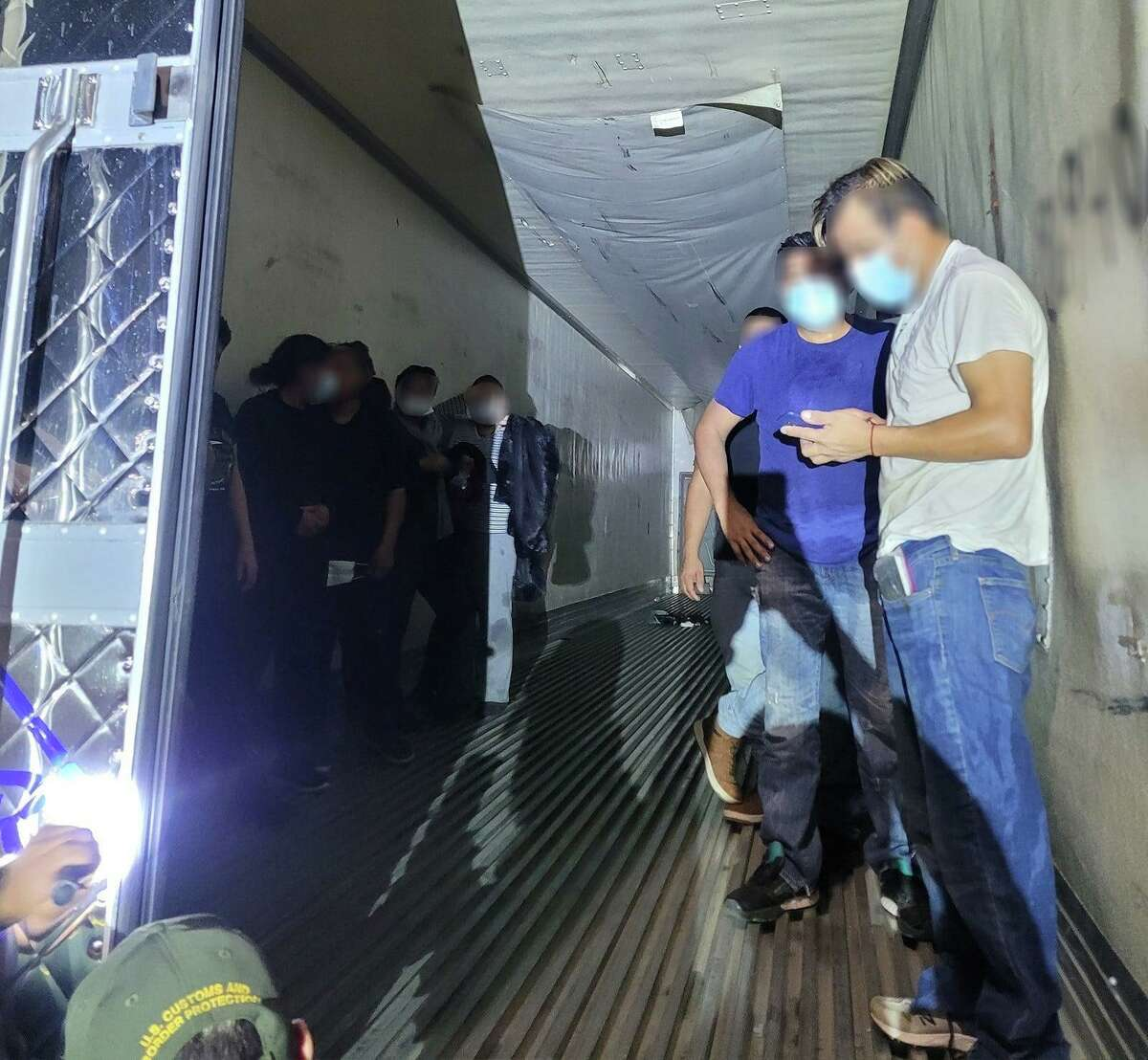 U.S. Border Patrol agents said they discovered 21 migrants inside a refrigerated trailer on Sept. 19 at the Interstate 35 checkpoint.