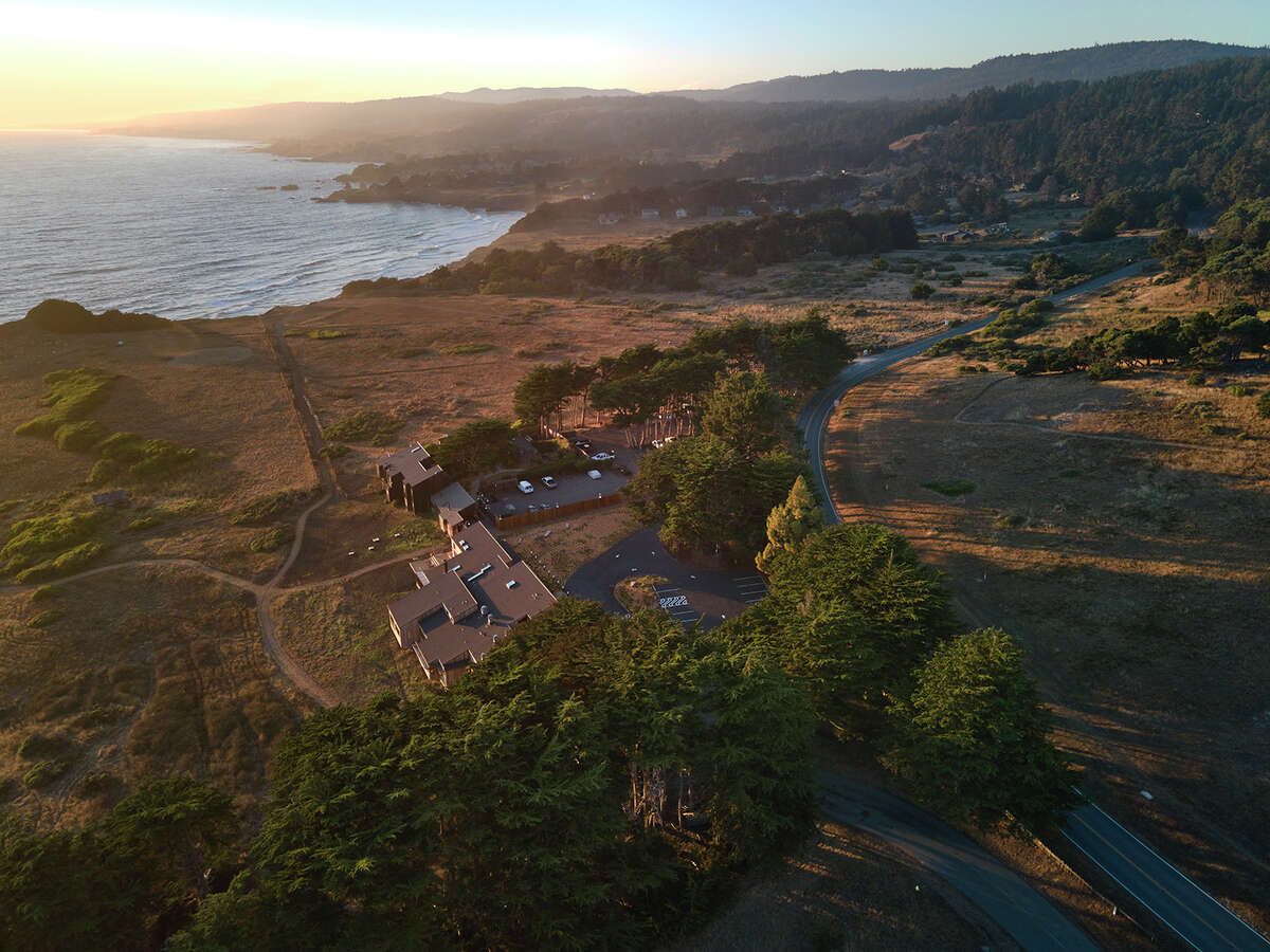 An overhead view of the Lodge at Sea Ranch, located on a 10-mile stretch of the Sonoma County coastline. The house belonging to the late landscape architect and master planner Lawrence Halprin, located in the community, is now on the market for $8 million.