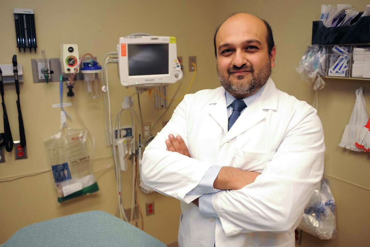 Dr. Hasan Gokal, a Memorial resident, recently returned from a mission trip to Iraq where he and a team of four other doctors taught aspects of emergency medicine in two new hospitals. He works in the ER at Memorial Hermann Hospital - Katy location. Photo by Thomas Nguyen.