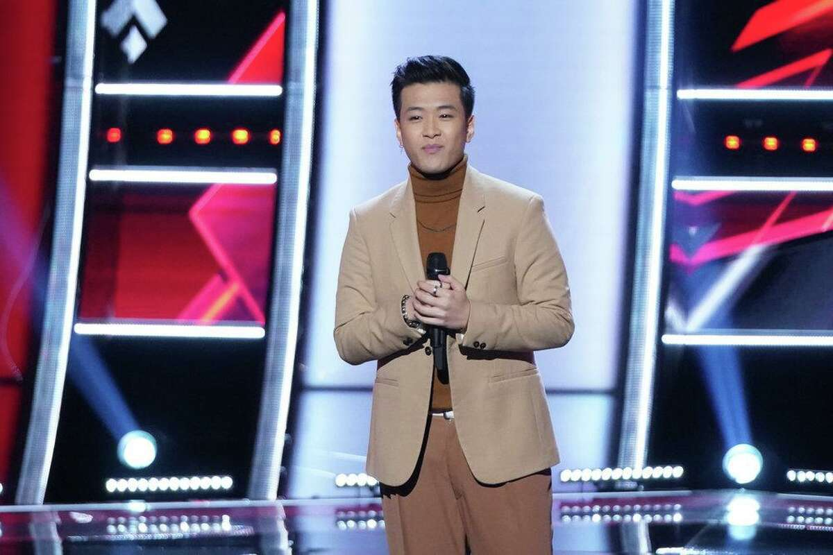 """THE VOICE -- """"Blind Auditions"""" Episode 2101 -- Pictured: Vaughn Mugol -- (Photo by: Tyler Golden/NBC)"""