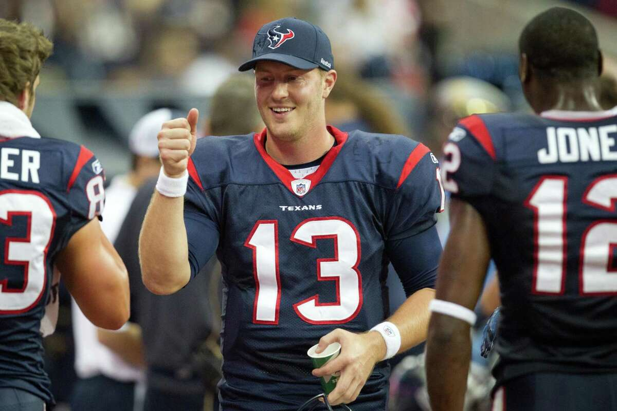 T.J. Yates led the Texans to a win over Atlanta in his first start as a rookie after Matt Schaub and Matt Leinart were lost to injury.